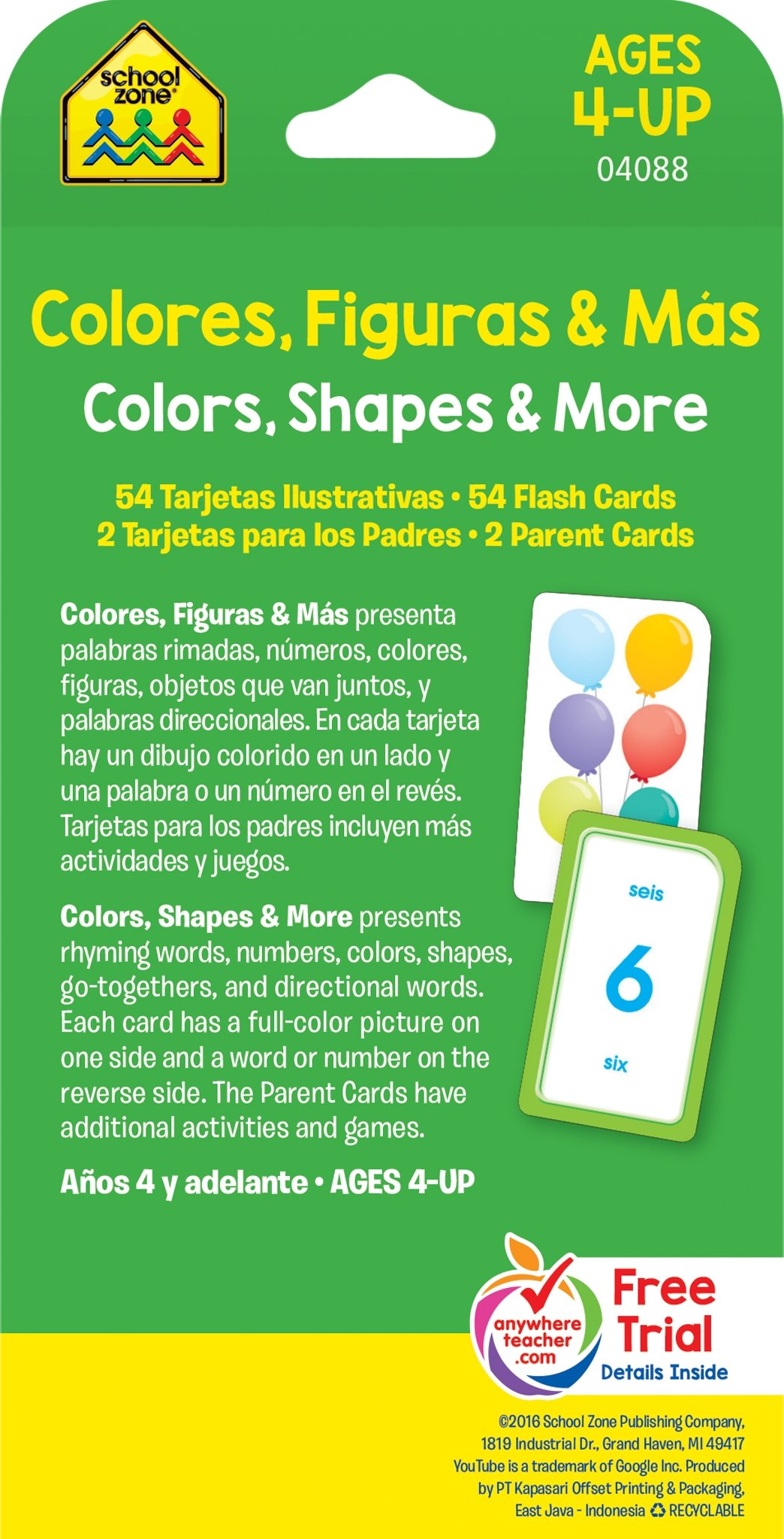 Colors, Shapes and More Flash Cards - Bilingual (Spanish Edition ...