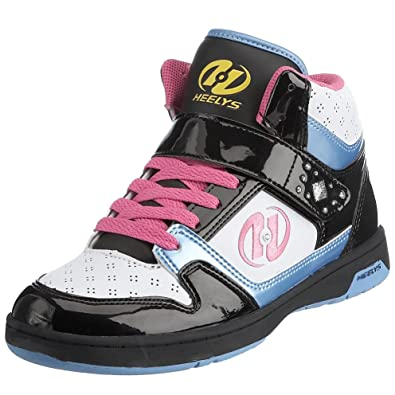 Heelys Women s Brooklyn Hi Lace-Up White Black Pink Blue Yellow HLY ... ca8334e3c8