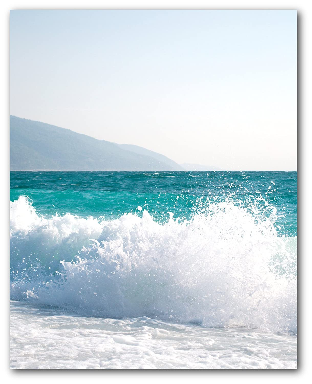 8 x 10 Inches Tropical Beach Art Sea Surf Print Unframed