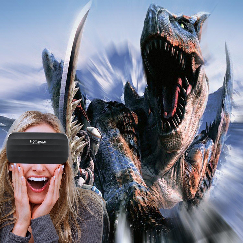 HAMSWAN Gafas 3D de realidad virtual con auriculares para películas 3D y juegos, compatible con todos los smartphones iOS y Android de 10,16: Amazon.es: ...