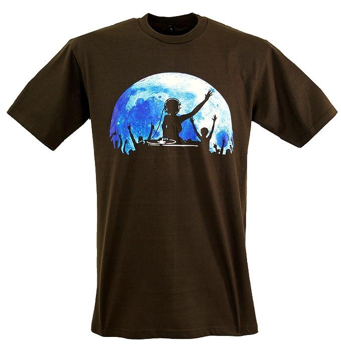 Guru-Shop, Camiseta de la Diversión de DJ `Power`, Marrón,