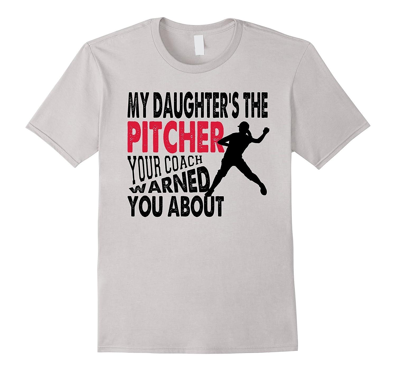 e606a878 Softball pitcher dad mom funny Baseball t-shirt – Hntee.com