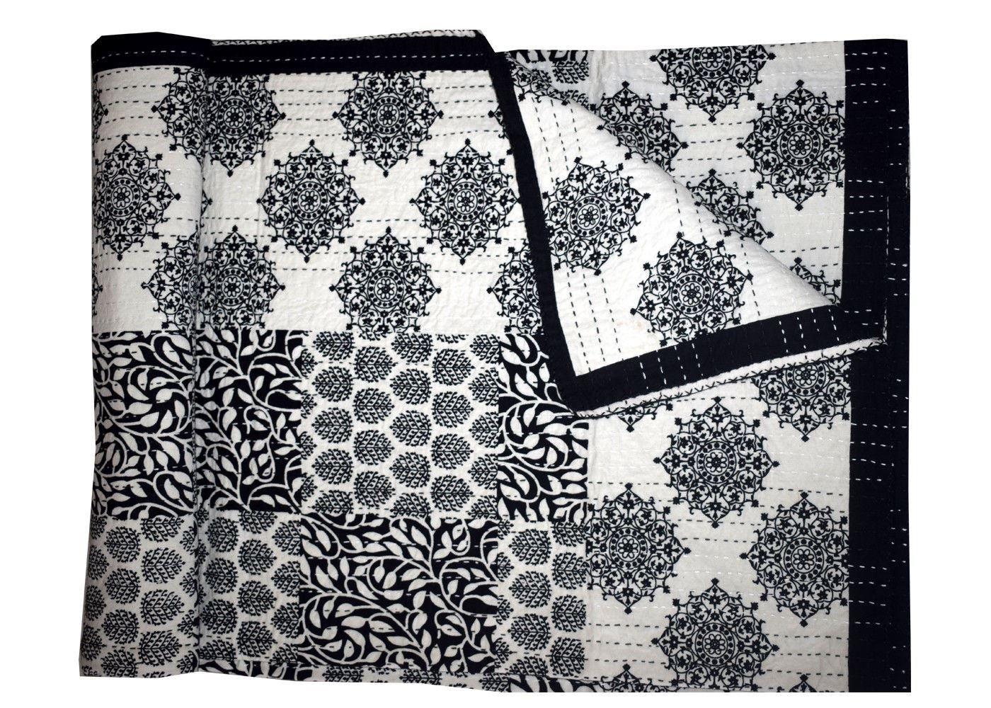 gypsya Studioヴィンテージキルト/Throw/Gudri/Ralli handmade-kantha-quilt-indian-cotton-patchwork B0784LXT1R