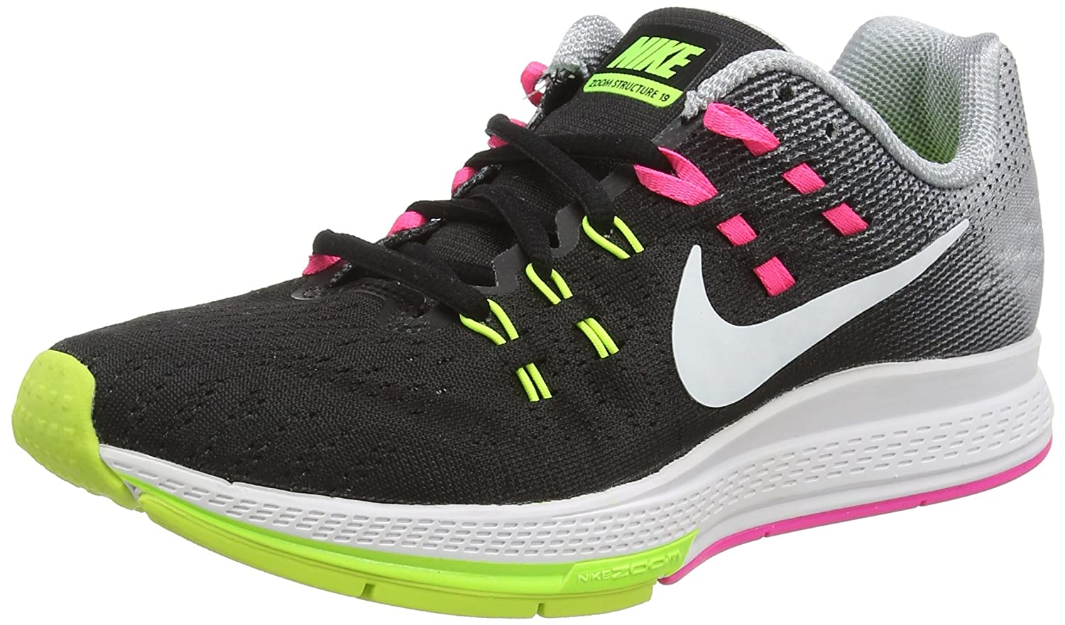 NIKE Mens Air Zoom Structure 19 Running Shoes B019DT9SCO 6 B(M) US|BLACK/WHITE-PINK BLAST-DK PURPLE DUST