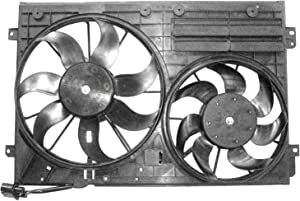 CPP Front Radiator Cooling Fan Assembly for 05-13 Volkswagen Jetta VW3115113