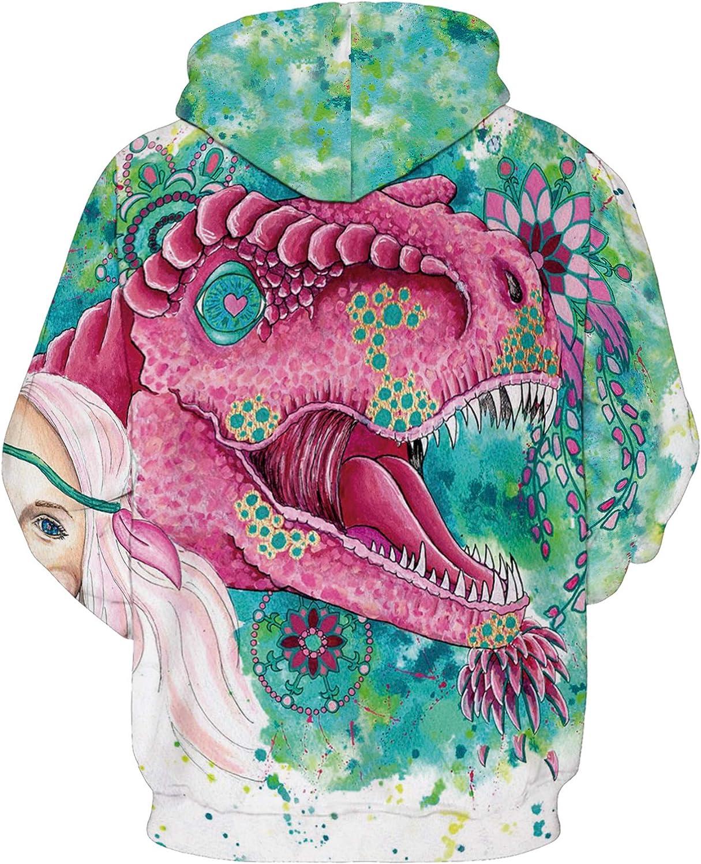URVIP Unisex 3D Printed Realistic Casual Long Sleeve Hoodie Pullover Sweatshirt