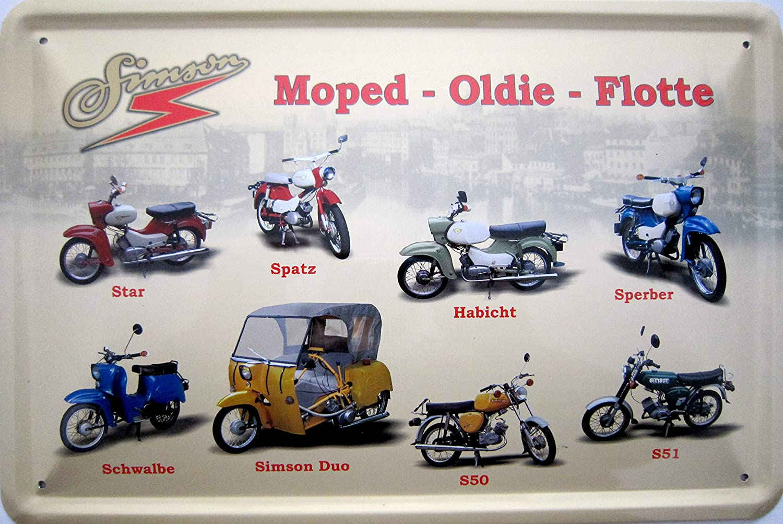 Simson S 50 51 Duo Habicht Schwalbe Spatz Sperber Star Motorrad Ddr Blechschild Schild