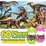 Toys for 3-10 Year Old Boys Girls, Fricon Fun Dinosaur Jigsaw Puzzle for Kids Ages 4-8 Educational Learning Toys Easter…