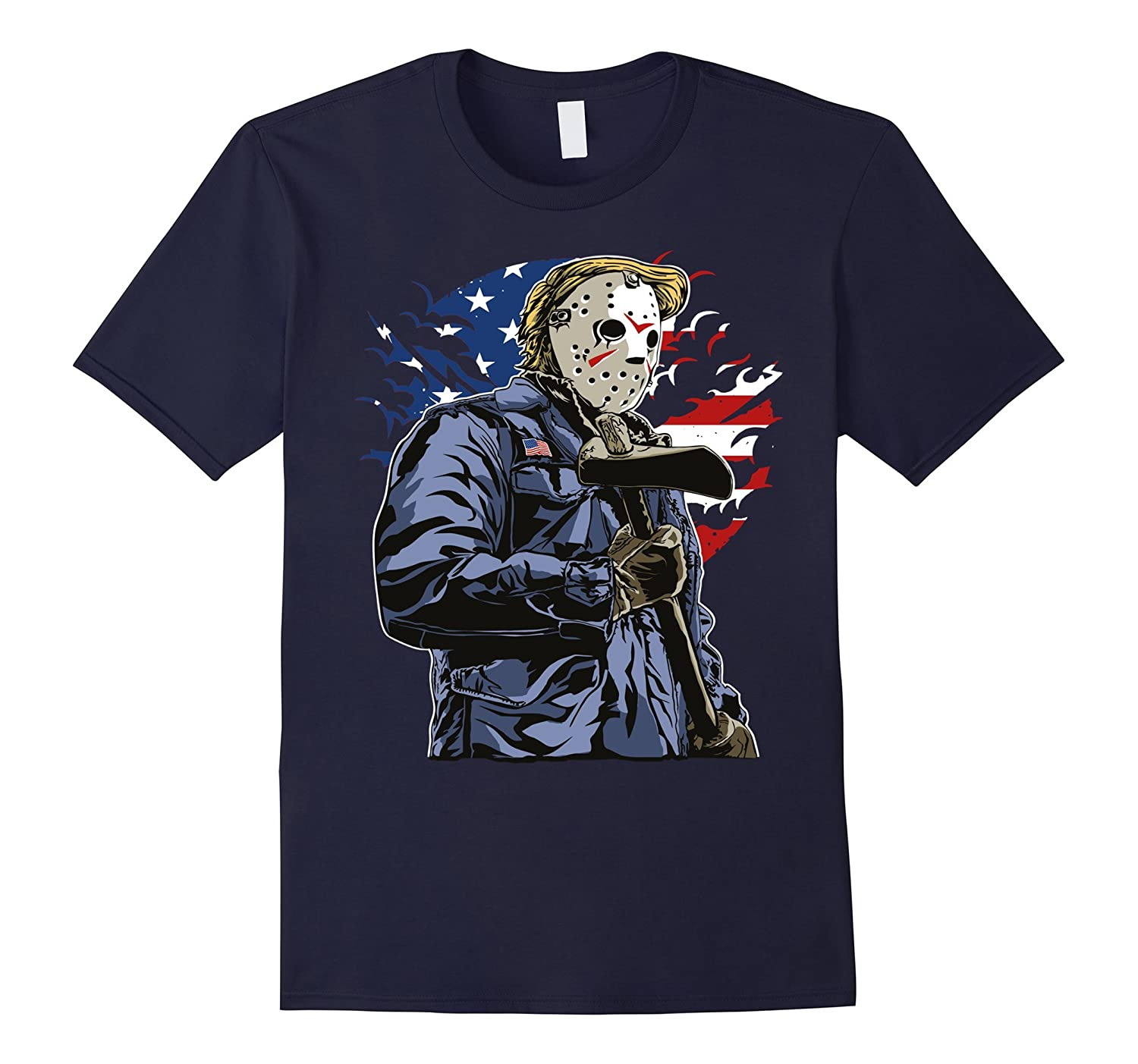 American killer Scary Halloween Axeman t shirt-Rose