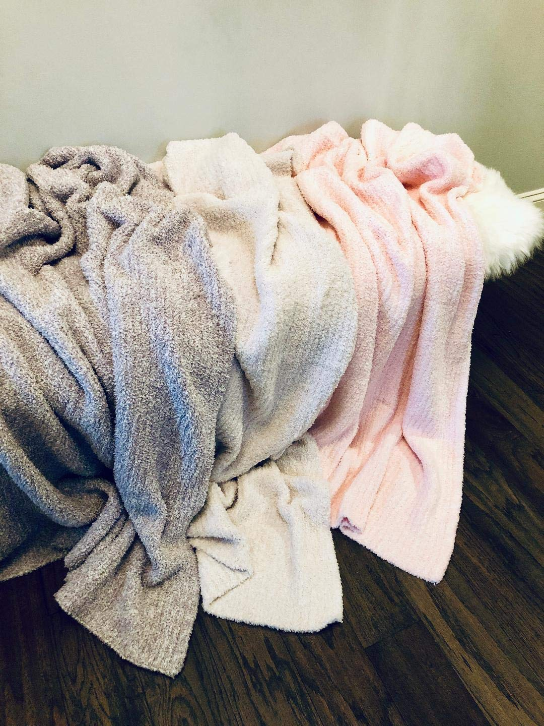 5bf8ccc8fbe2a Amazon.com  Undie Couture Plush   Fluffy Cozy Knitted Throw Blanket ...
