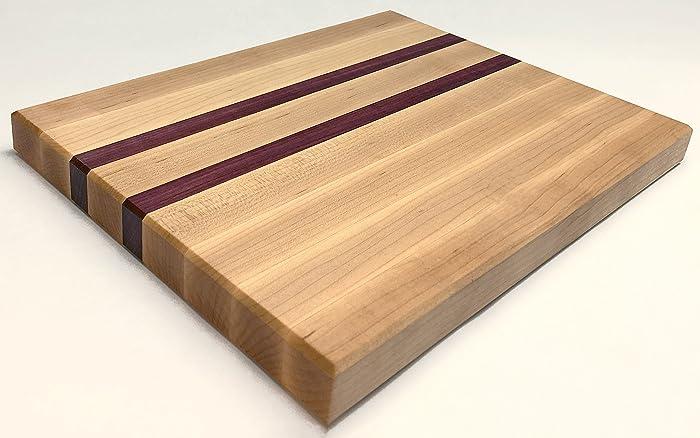 Maple and Purple Heart Butcher Block. Amazon com  Maple and Purple Heart Butcher Block  Handmade
