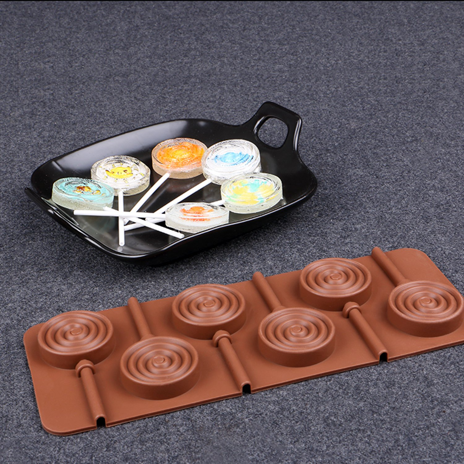 Silicone Chocolate Molds Set of 6 NonStick BPA Free Baking Candy Molds