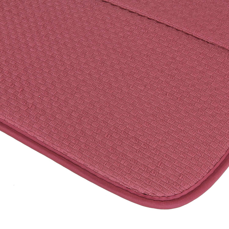 Microfibra macosa SP1161/Moderna Escurreplatos Microfibra selbsttrocknend| para Vasos y vajilla Estante Fregadero escurridor Vajilla de alfombras 41 x 46 x 0,5 cm Granate