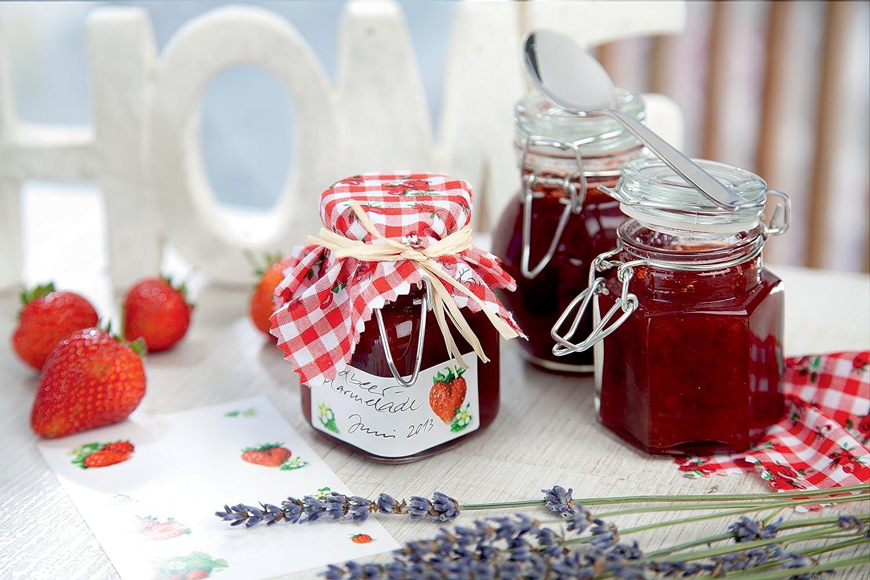 AVERY Zweckform 59677 Marmeladen Etiketten Obstkorb wiederabl/ösbar 9 Aufkleber