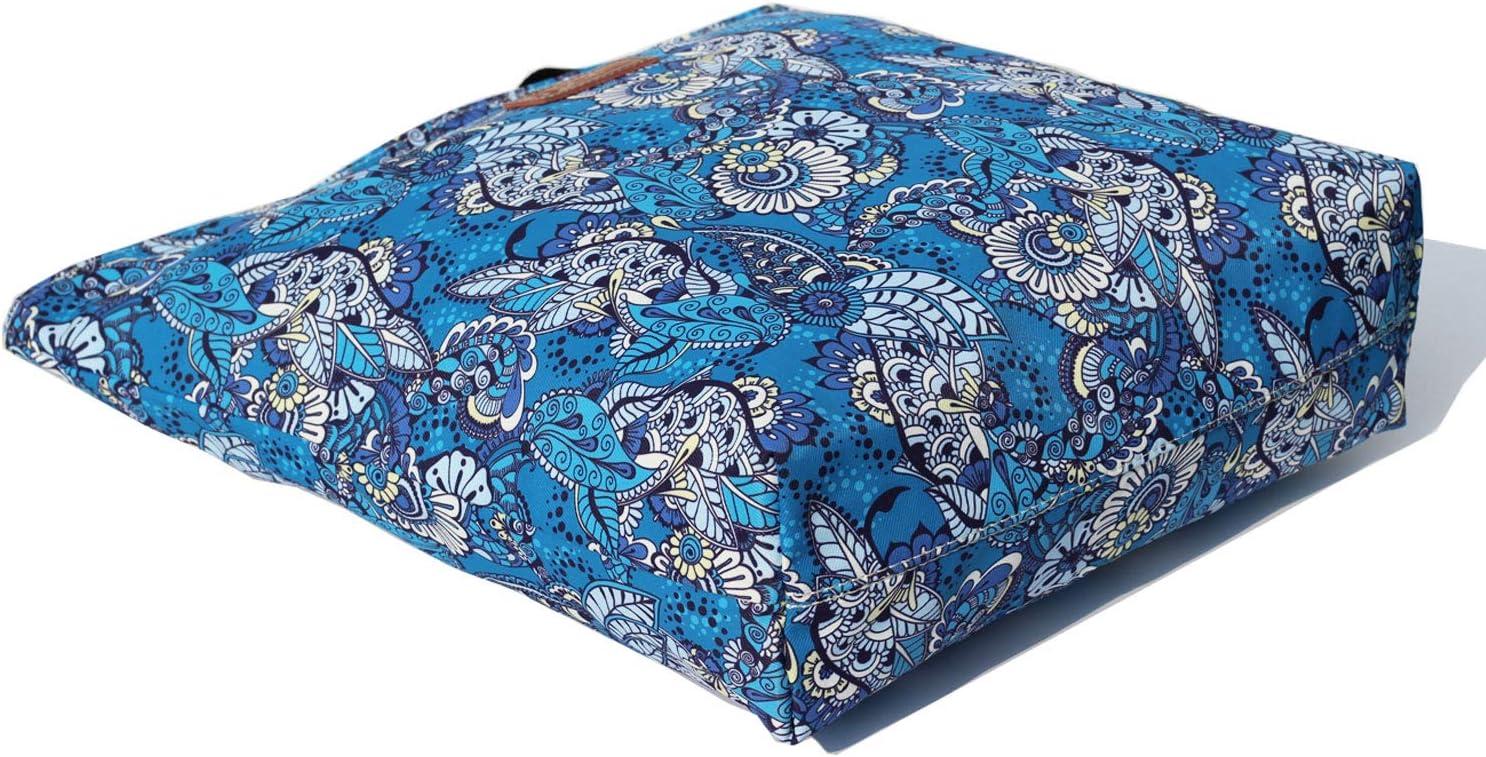VAVAER Floral Tote Bag with Light Color Interior Waterproof Lightweight Travel Shoulder Bag Summer Handbag Purse for Hiking Yoga Gym Swimming Travel Beach