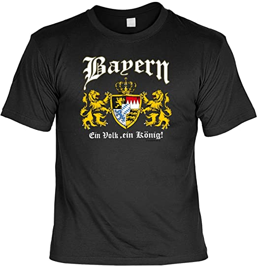 T Shirt Mit Urkunde Bayern Wappen Ein Volk Ein König Lustiges Sprüche Shirt Als Geschenk Für Echte Bayern Mit Humor