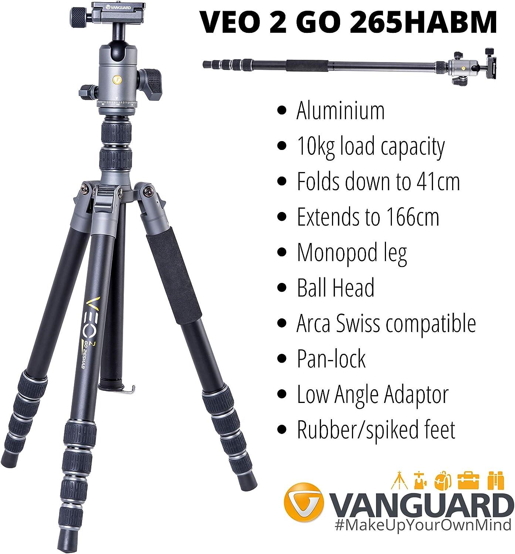 VEO 2 Go 265Habm Aluminium Travel Tripod 10kg Load Capacity