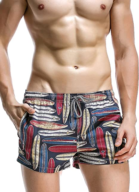 SEOBEAN Mens Sport Swimwear Bathing Trunk Boxer Beach Board Shorts