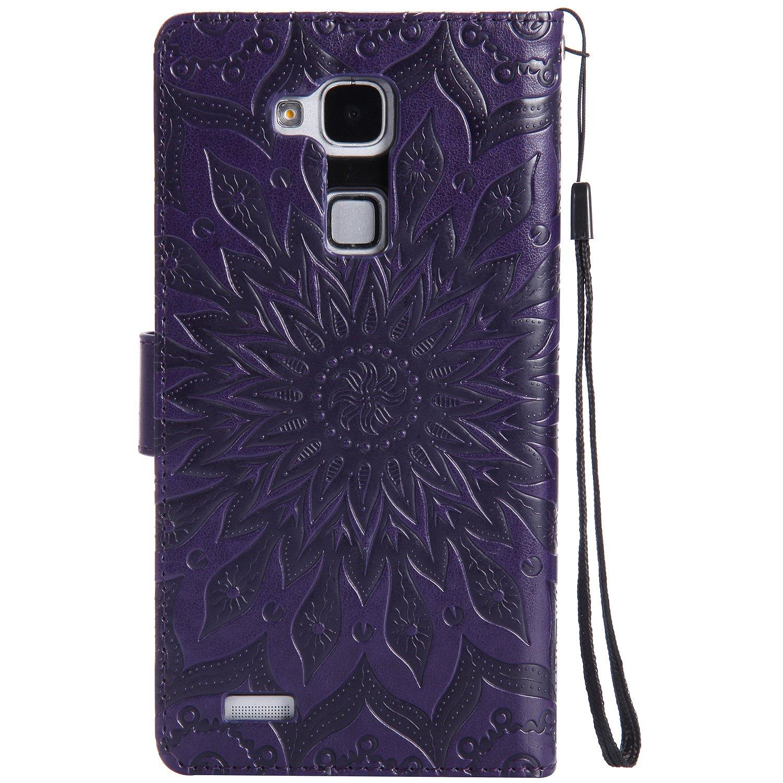 PU Coque Huawei Mate 7 , Multifonction Case Wallet Cover Etui en cuir Étui de protection flip Wallet stand Cover avec des fentes de cartes pour Huawei Mate 7 +Bouchons de poussière (6FF) Laoke