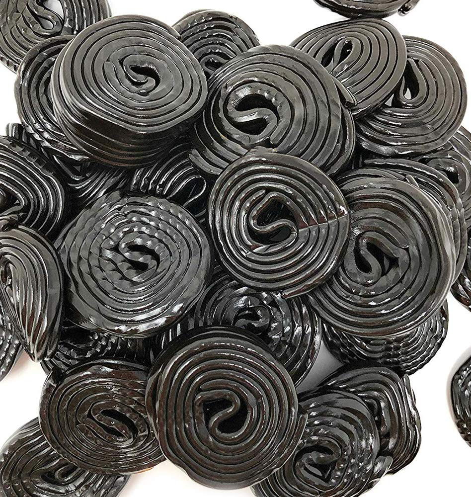 Italian Black Licorice Wheels | Bulk Candy | Natural Colors and Flavors, GMO Free | 4.4 Pounds
