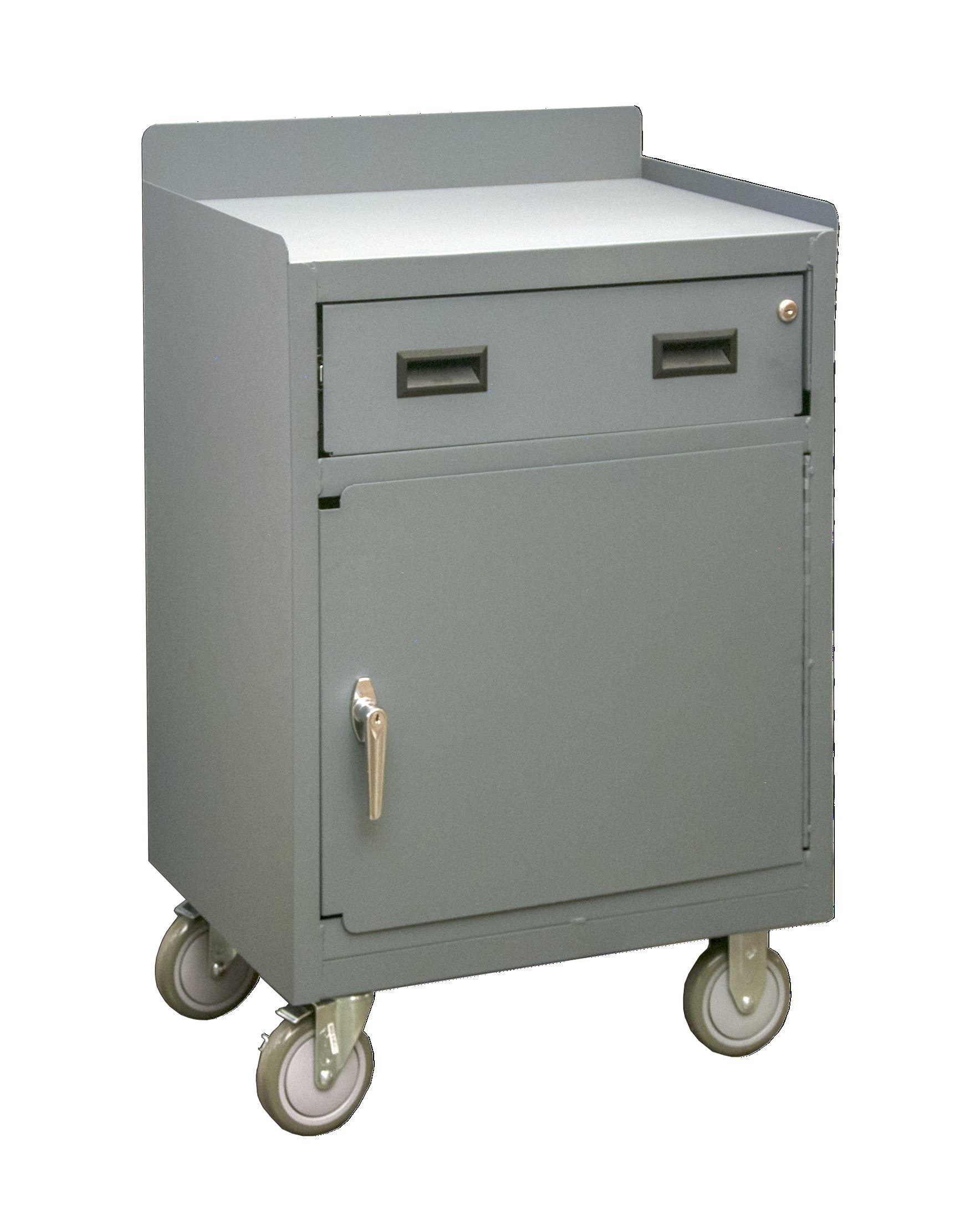 Durham 2203-LU-95 Mobile Bench Cabinet with 1 Shelf, 30'' Wide, 1200 lb Capacity