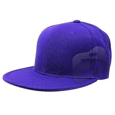 60fbe5731516d5 Enimay Baseball Hats Caps Flat Bill Solid Color No Logo (MANY COLORS ...