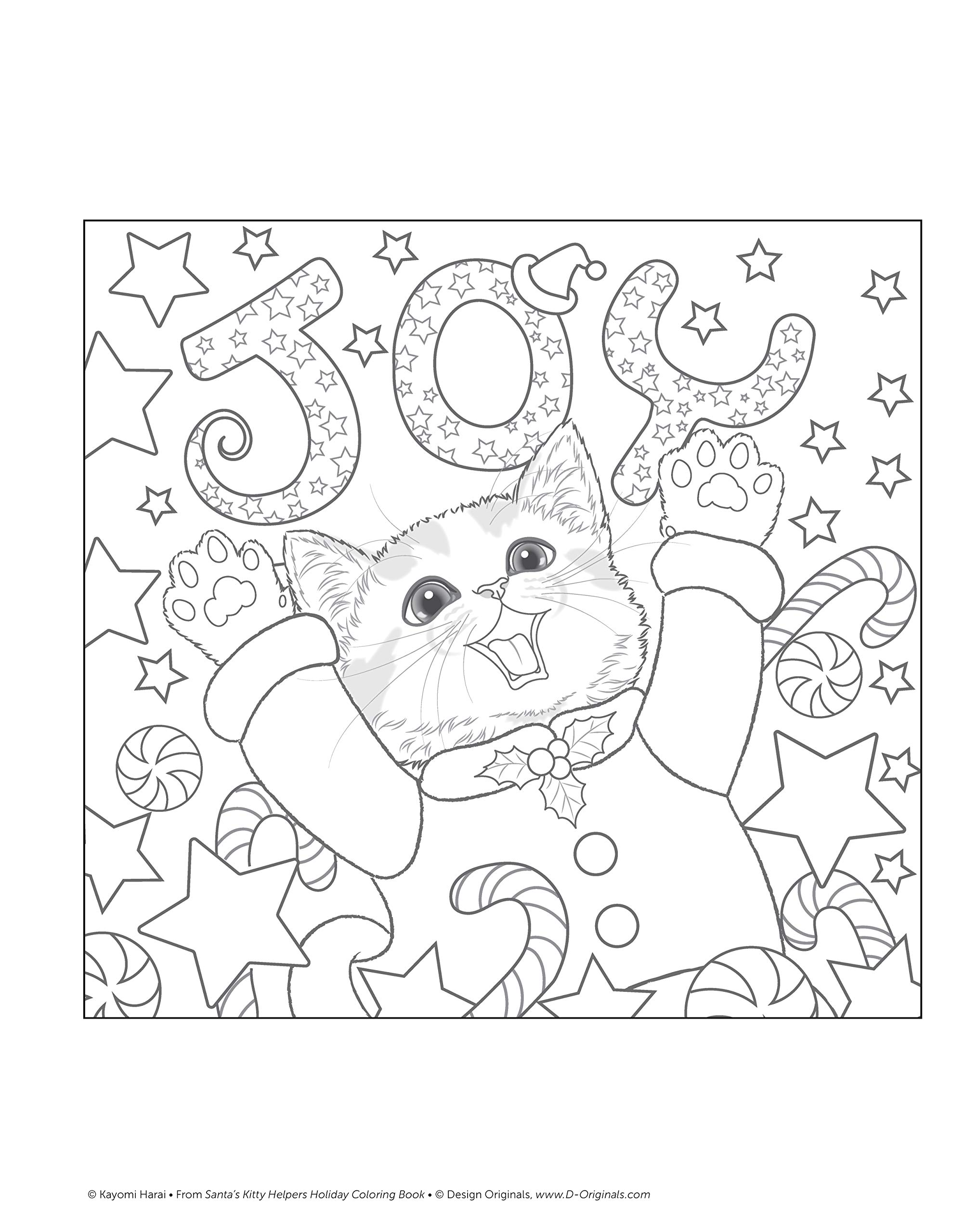 - Santa's Kitty Helpers Holiday Coloring Book Design Originals