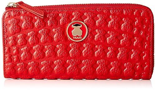 Tous 995960440, Monedero para Mujer, (Rojo), 19x10x2 cm (W x ...