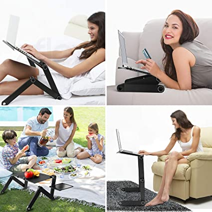 Laptop Stand Bed Sofa, Portable Foldable Adjustable Vented Laptop ...