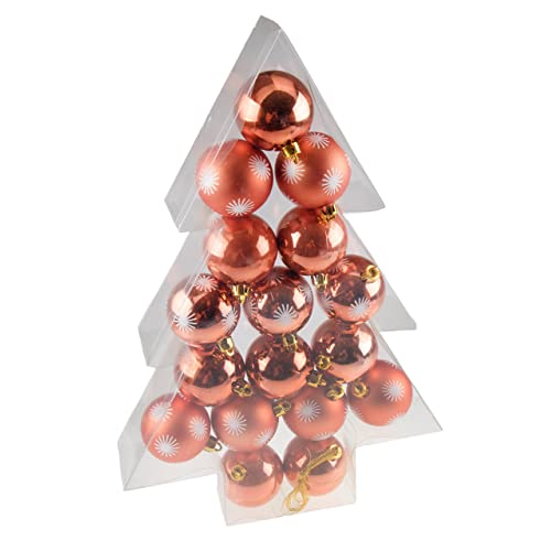 shatterproof christmas tree ornaments by clever creations large copper 60mm christmas decor 17 piece - Unusual Christmas Decorations