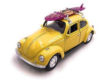 H-Customs - Maqueta de Escarabajo con Tabla de Surf (1:34-1:39), Color Amarillo: Amazon.es: Coche y moto