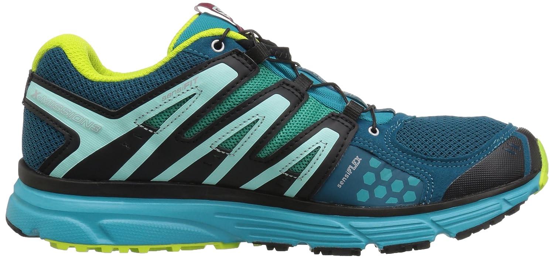 Salomon W Damen X-Mission 3 W Salomon Trailrunning-Schuhe, Synthetik/Textil Blau (Deep Lagoon/Blaubird/Acid Lime) 3cf301