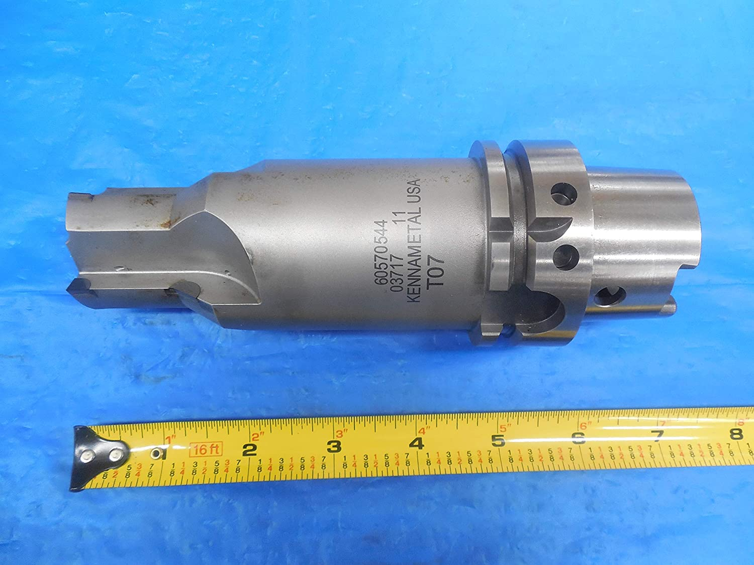 KENNAMETAL HSK63A 40 mm Integral Carbide Tipped END Mill Tool Holder 60570544