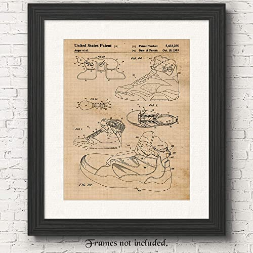 Amazon original nike air pump patent poster print set of