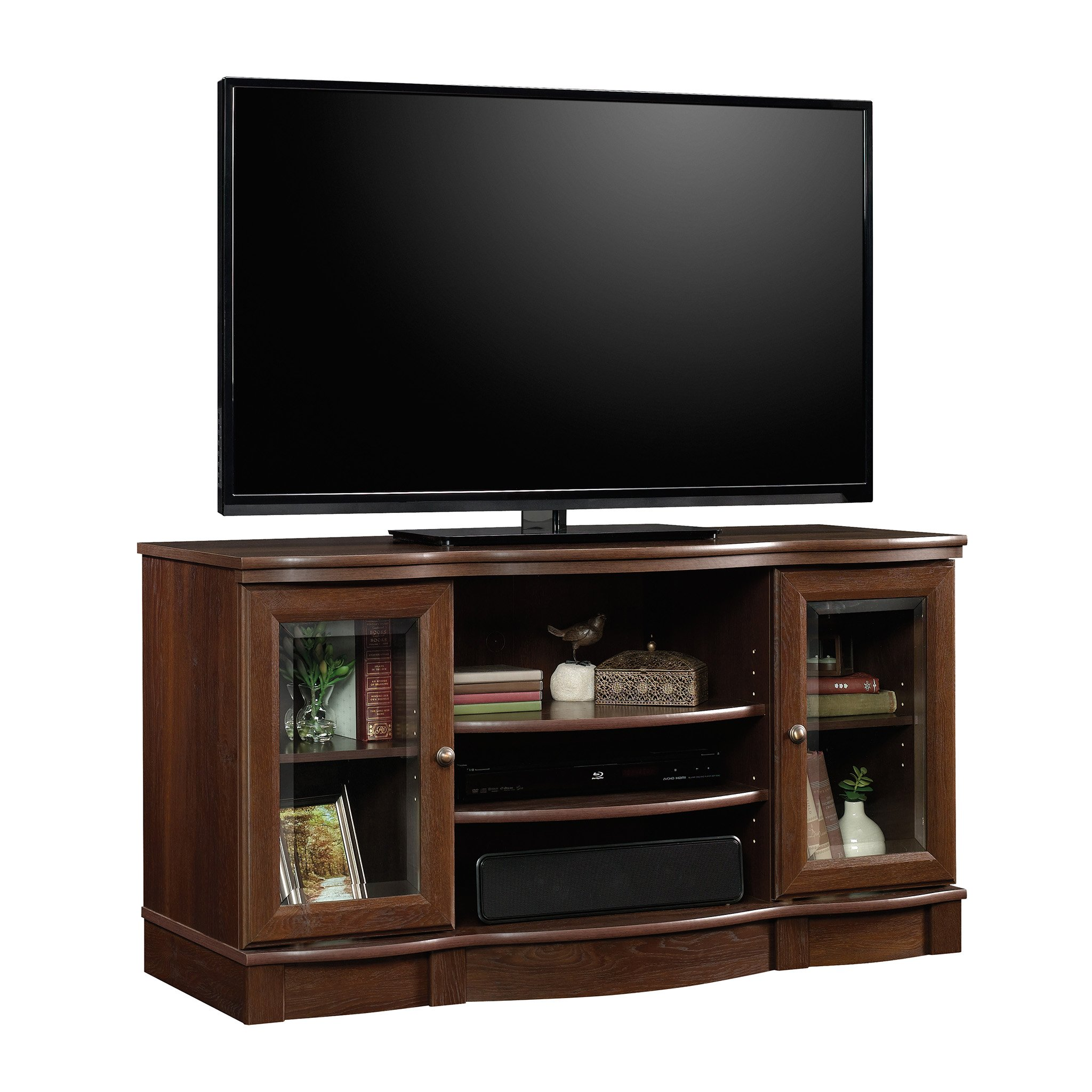 Sauder 419963 Regent Place TV Stand, For TV's up to 50'',  Euro Oak finish