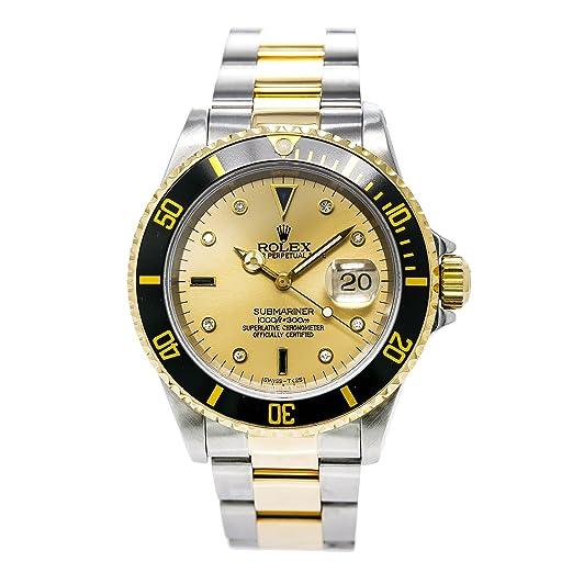 Rolex Submariner automatic-self-wind Mens Reloj 16613 (Certificado) de segunda mano: Rolex: Amazon.es: Relojes