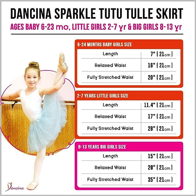 Dancina Falda Tutú con Brillos de Ballet para Niñas de 2 a 7 años ...