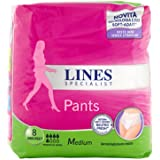 Lines Specialist Pants Discreet Assorbenti per Urina, Taglia M, 8 Pezzi