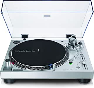 Audio-Technica AT-LP120X, Giradiscos de Tracción Directa (Analógico y USB), Plata
