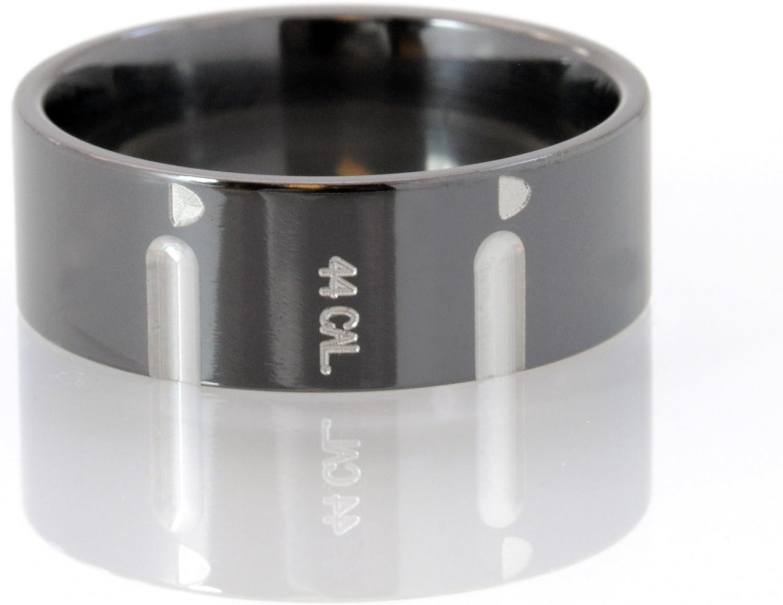 44 Caliber Black Zirconium Ring