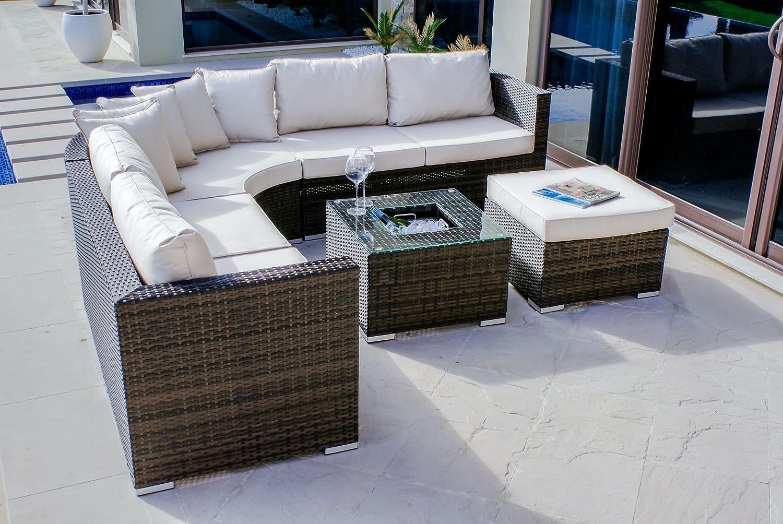 Amazon.de: Maze Rattan fla-103520 Barcelona Ecke Gruppe mit Luxus ...