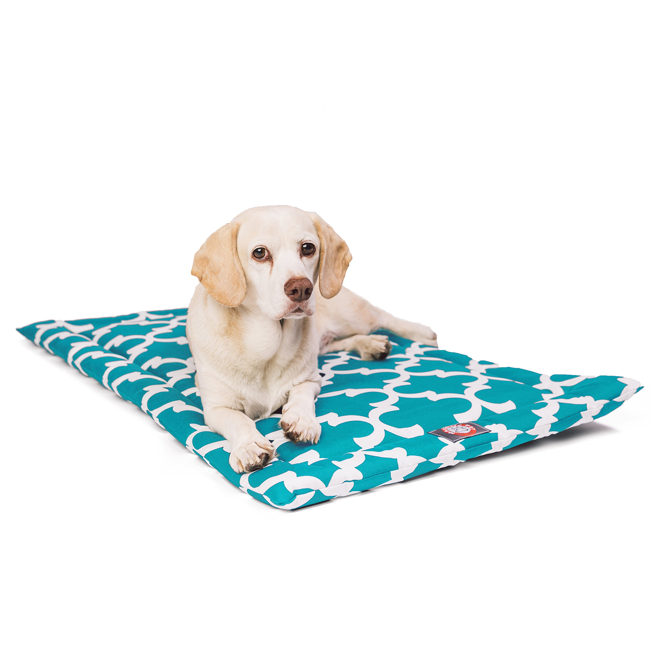 30''  Trellis Teal Blue Crate Dog Bed Mat By Majestic Pet Products