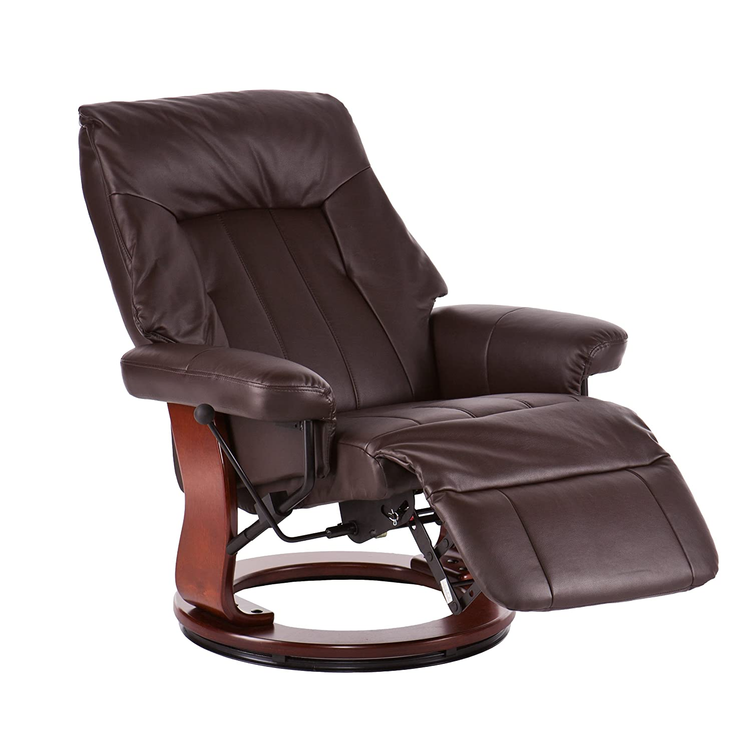 Amazon Norland Recliner w Hidden Ottoman Kona Brown