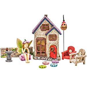Miniature Fairy Garden Houses, Fairies, Figurines, Animals, Kits, Furniture, and Supplies (Fairy's Retreat)