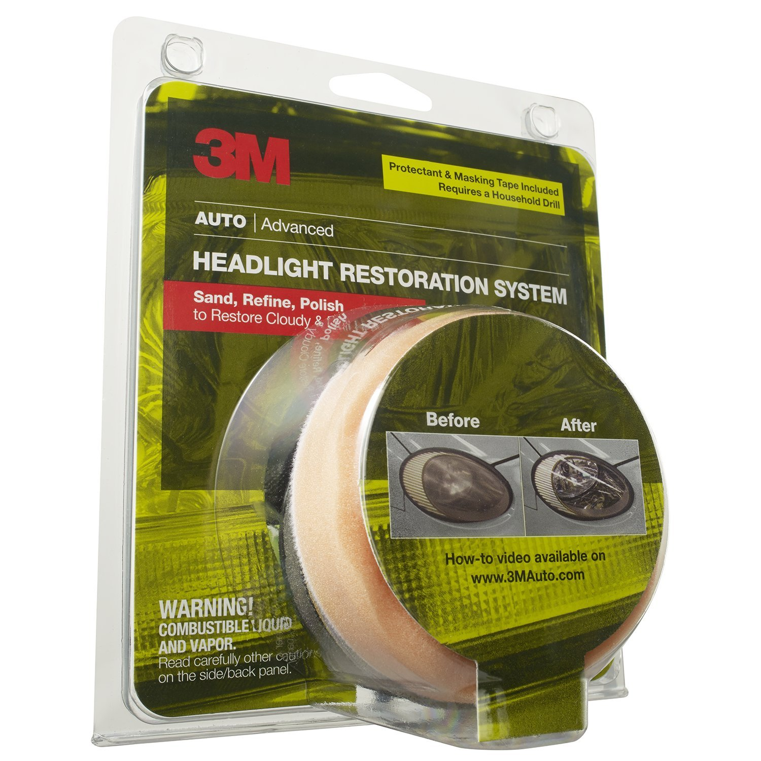 3M 39045 Headlight Renewal Kit With Protectant 1 4