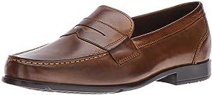 Rockport Men's Classic Lite Penny Loafer,Dark Brown,11 W (EE)