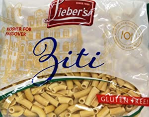 Lieber's Ziti Pasta Gluten Free Kosher For Passover 9oz - Pack of 3