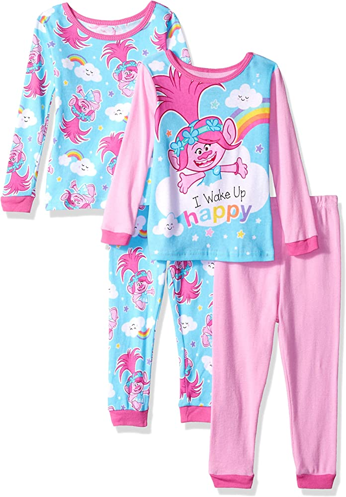 Trolls Toddler Girls Pink Two-Piece Pajama Pant Set Size 2T 3T 4T