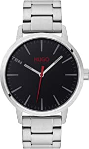 HUGO by Hugo Boss Men's #STAND Quartz Watch with Stainless Steel Strap, Silver, 20 (Model: 1530140)