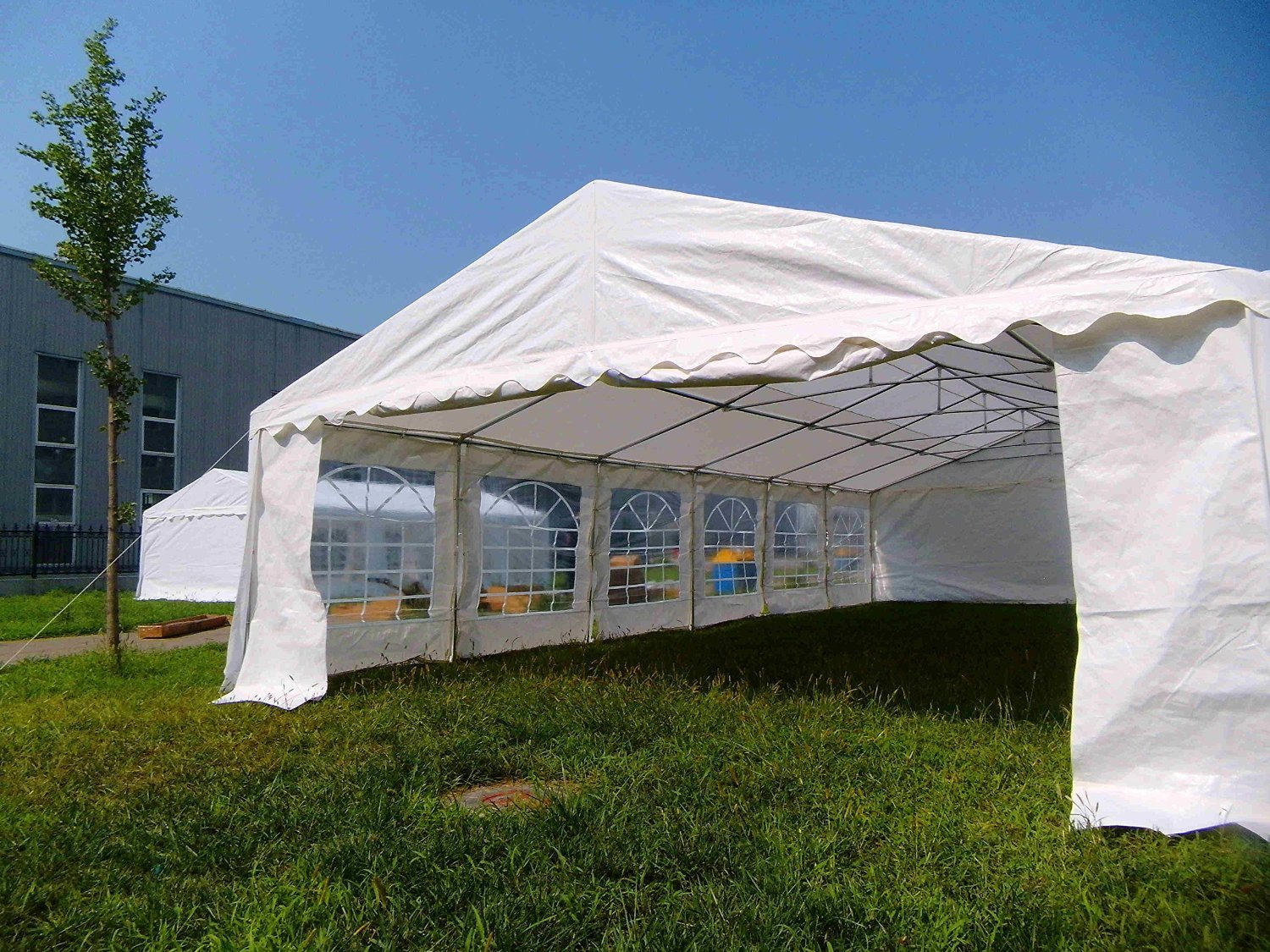 Amazon.com  OTLIVE 40x20 ft Wedding Tent Party Easy Gazebo Steel Frame Commercial Canopy Pop Up White Tent  Garden u0026 Outdoor & Amazon.com : OTLIVE 40x20 ft Wedding Tent Party Easy Gazebo Steel ...